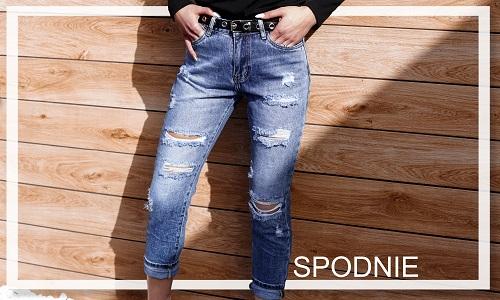 spodnie jeansowe, woskowane spodnie, spodnie push-up, legginsy