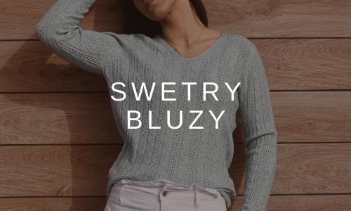 swetry, bluzy z kapturem, kardigany, swetry ze splotem